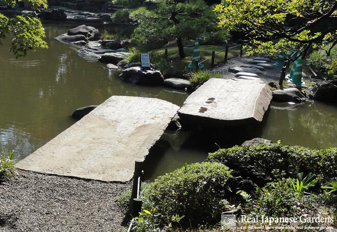 Stone bridge in the Kyu-Furukawa garden.