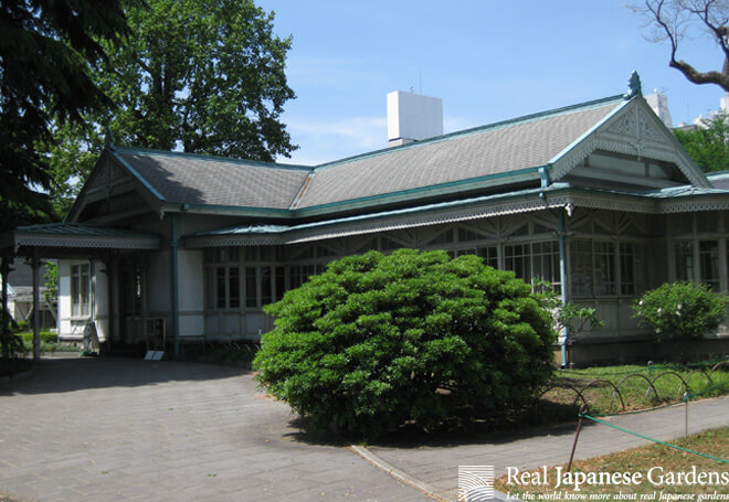 The old club house in the Shinjuku Gyoen gardens.
