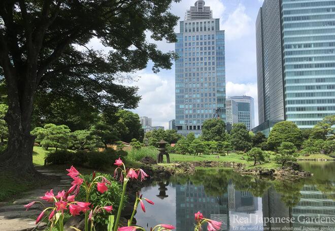 Old, new, and transitory in the Kyu-Shibarikyu garden in Tokyo.