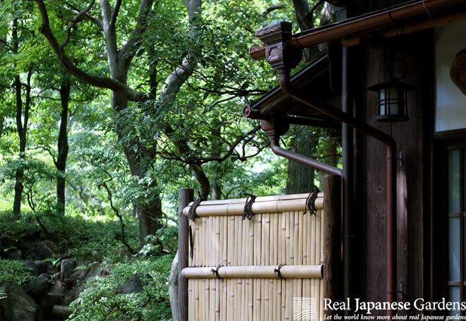 The teahouse in the Tonogayato garden in Tokyo.
